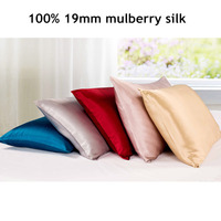 100% Pure 19mm Silk Pillowcase Housewife Both Sides Pillow Case Pillow Sham Cover for Skin Care Stardend Queen King Size