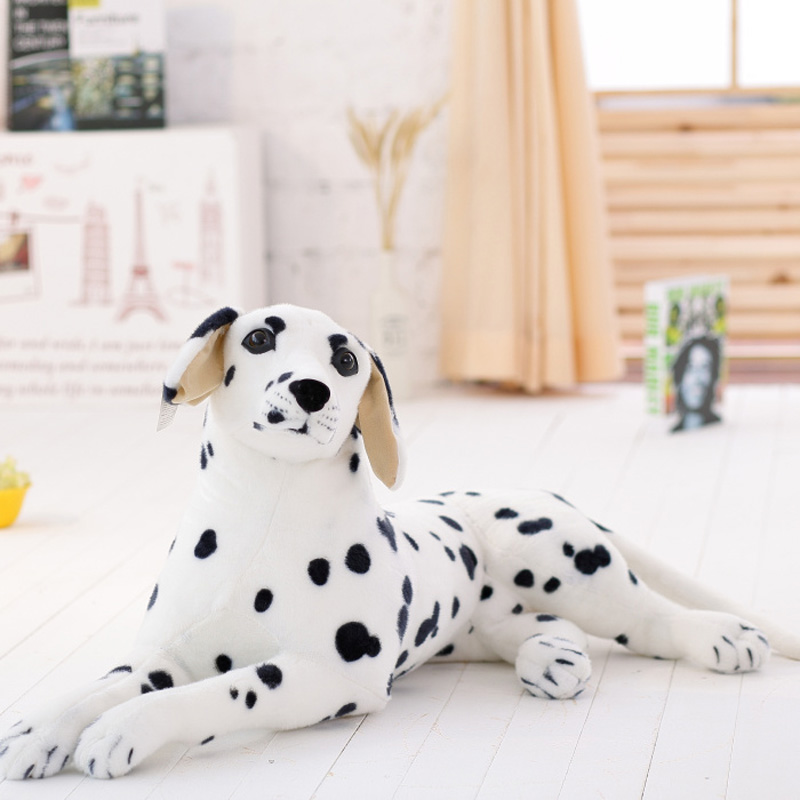 Staffed Soft Plush Toy Spotted dog Giant Lies Prone Dog Doll Cute Pillow Creative Dolls Kids Toys Birthday Gift for Kids