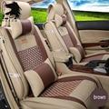 Cubierta de Asiento de coche Para Hyundai iX25 Creta Delantero y Trasero Completo Set parte para de Cuatro Estaciones Asiento de Coche Universal 5 accesorios interiores