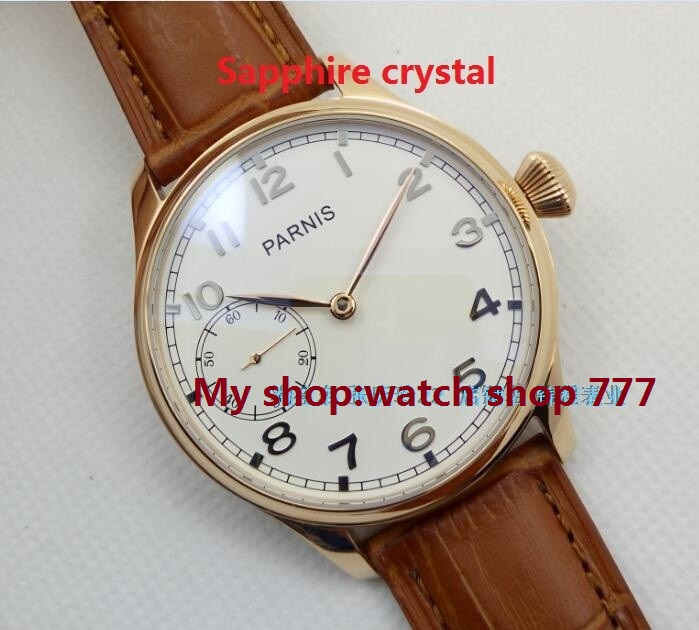 Sapphire crystal  44mm PARNIS ST3600/6497 gooseneck Mechanical Hand Wind movement Mechanical watches men's watches wholesale o28 sapphire crystal 44mm parnis st3600 6497 gooseneck mechanical hand wind movement mechanical watches men s watches wholesale o27