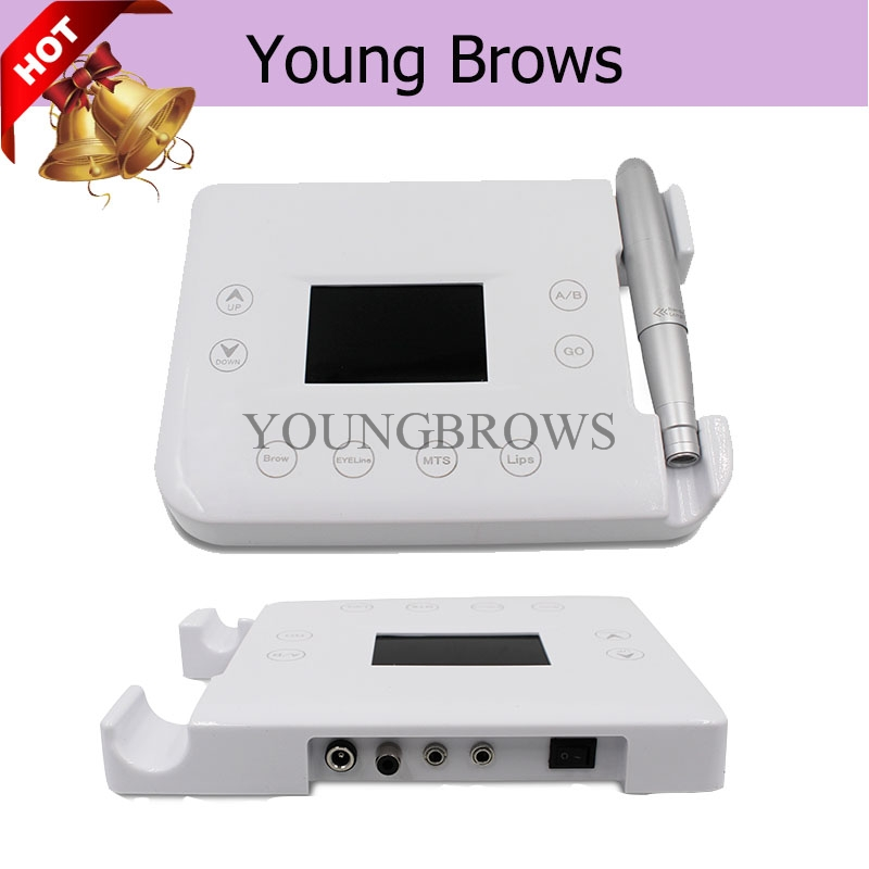 Digital Micropigmentation Tattoo Device  With Control  Panel For Permanent Makeup and Brows Tattoo 35000r import permanent makeup machine best tattoo makeup eyebrow lips machine pen