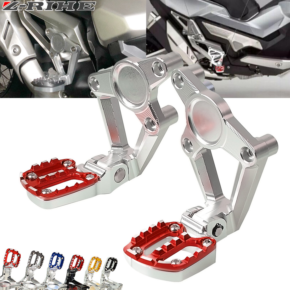 For HONDA X-ADV XADV X ADV XADV 750 X-ADV 750 XADV750 2017 2018 Motorcycle accessories Folding Rear Foot Pegs Footrest Passenger aluminum motorcycle brake clutch levers for honda x adv 2017 2018 xadv 750 x adv brake lever clutch handle accessories