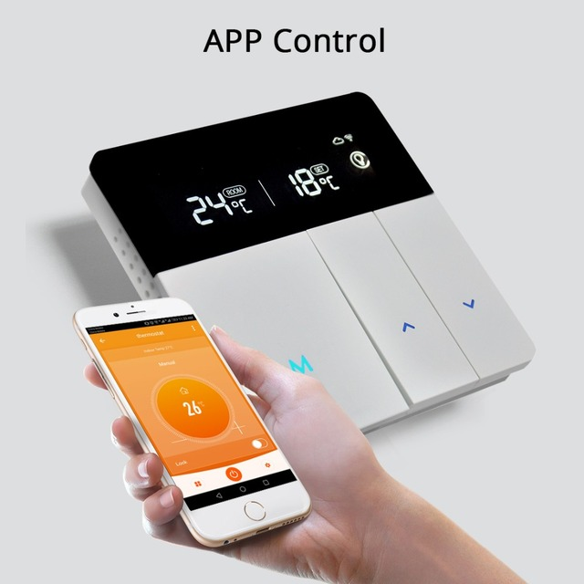 Termostato de calefacción inteligente para Alexa y Google Home