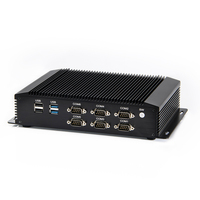 Industrial PC Fanless Mini Computer Intel i7 4500U 5500U i5 4200U 2*Intel Lans 6*RS232/485 GPIO LPT HDMI VGA 8*USB WiFi 3G/4G