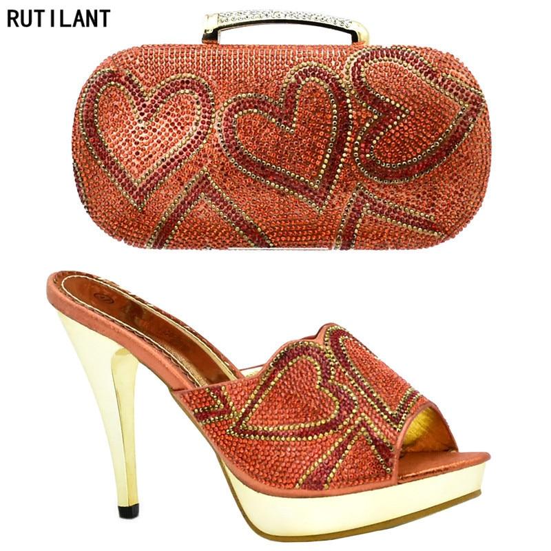 Und Strass Entsprechen Schuhe Zu Verziert orange Set Blau Afrikanische Italienische Taschen Hohe Qualität Mit fuchsia Tasche Italien gold wFPnx4tY