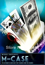 2014 new M-Case and Gimmick by Mickael Chatelain / close-up CARD magic trick produsts / bicycle card case / free shipping