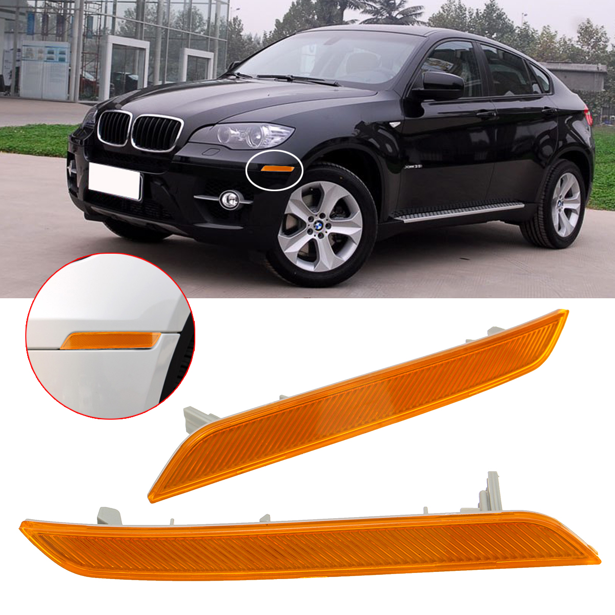 For BMW E83 X3 2007-2010 Right Rear Bumper Housing Side Marker Reflector Light