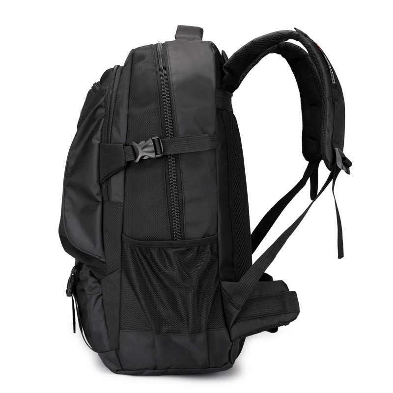 Непромокаемый рюкзак большой емкости школьная сумка Школьный ранец дорожная сумка спортивная сумка пакет мужской черный Открытый рюкзак для альпинизма для мужчин