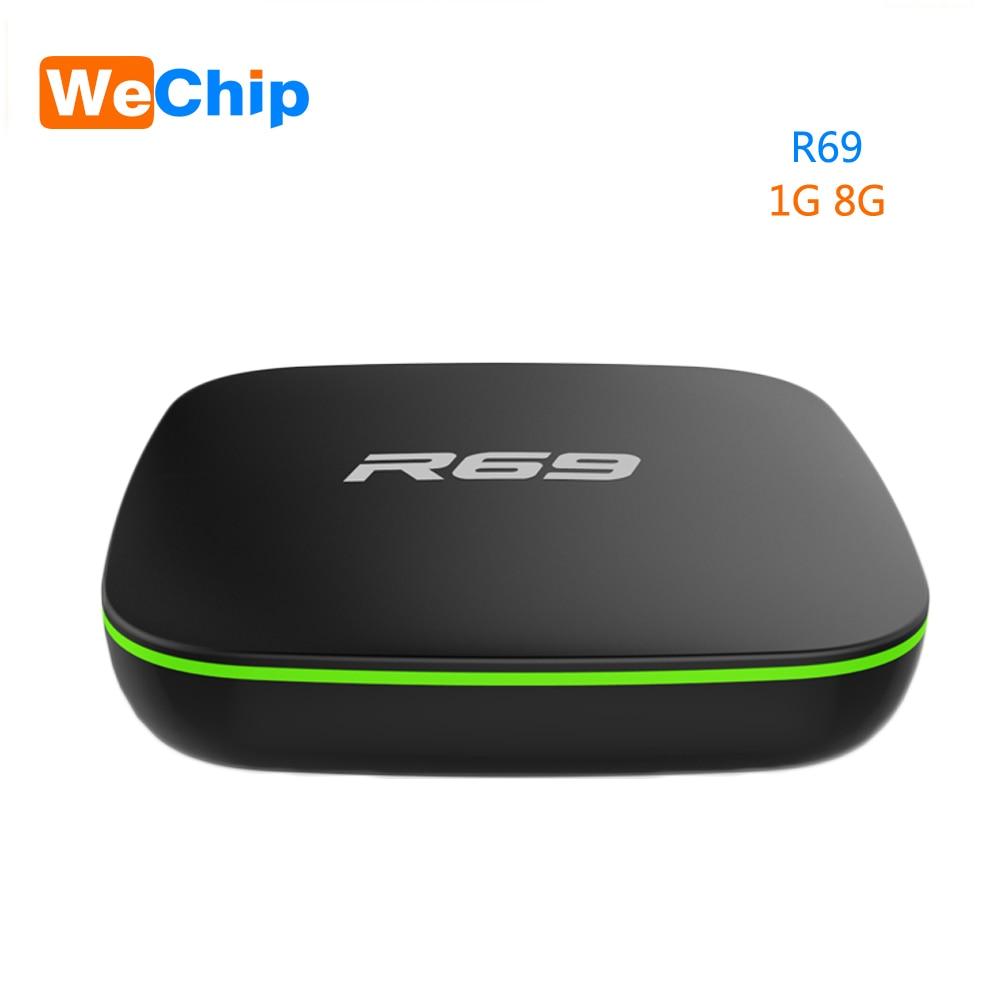 Wechip R69 Smart Android 7.1 TV Box 1 GB 8 GB Allwinner H3 Quad-Core 2,4G Wifi Set Top box 1080 P HD Unterstützung 3D film-Media-player