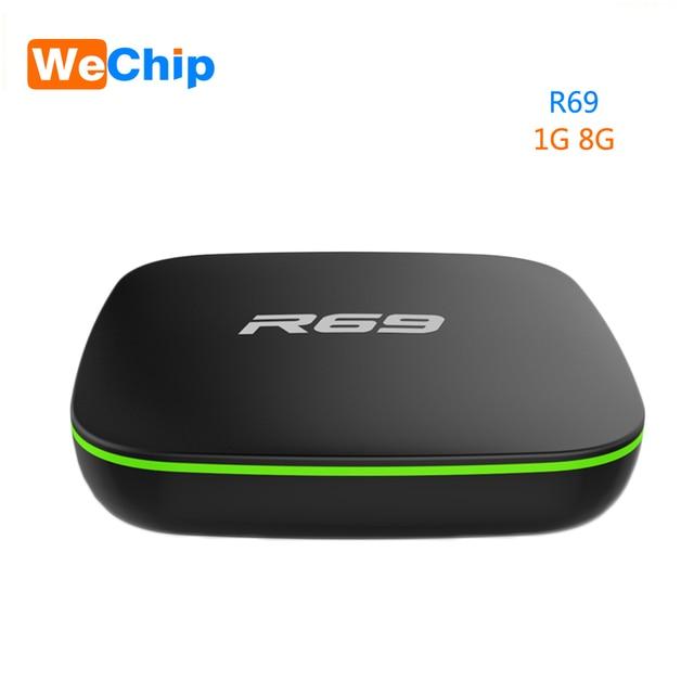Wechip R69 Smart Android 7.1 TV Box 1GB 8GB Allwinner H3 Quad-Core 2.4G Wifi Set Top Box 1080P HD Support 3D movie Media player