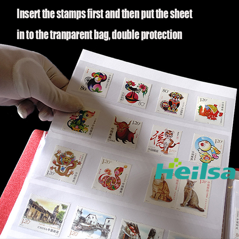 US $33 61 18% OFF 1500 Pcs Postage Stamps Collecting Album 30 Sheets 60P 5  Line Holder Double Layer Protection Storage Album for Stamps Collection-in