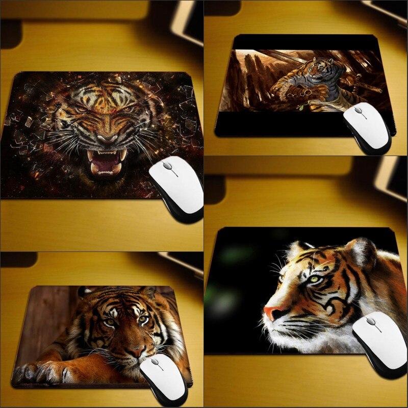 Mairuige Hadsome Животные узор Коврики Прохладный Тигры Pc Коврики на стол мини-небольшой Размеры противоскольжения высокое качество Deskmats для игры