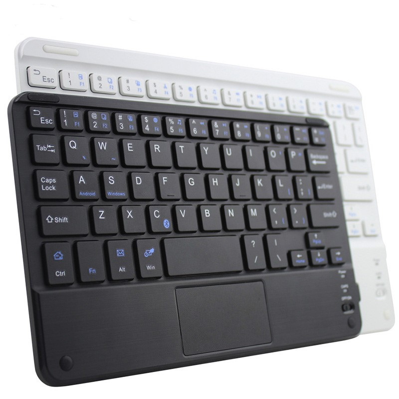 Portable Mini Wireless Bluetooth Keyboards with Touchpad Universal For All 7-10 inch Android Tablet For iPad Smartphones image