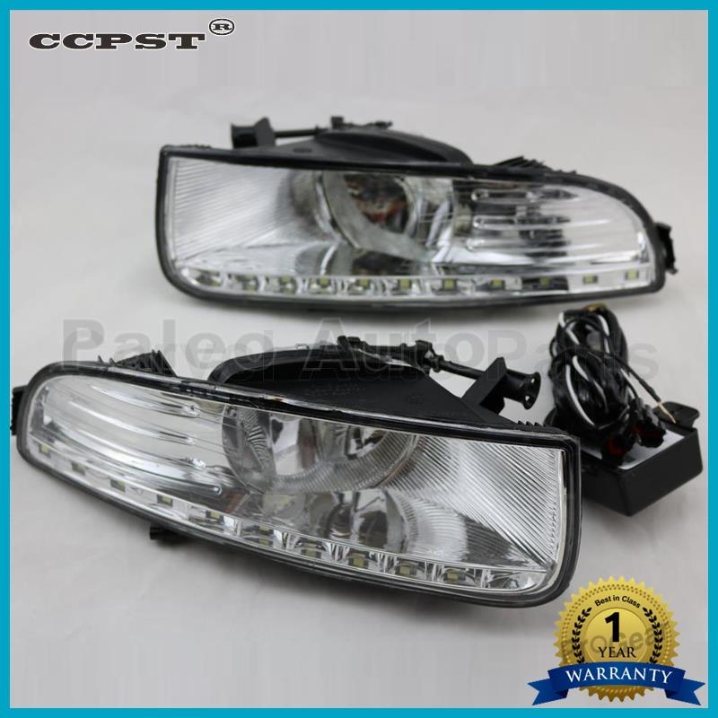 Car LED light For Skoda Superb 2008 2009 2010 2011 2012 2013 New LED DRL Daytime Running Light Fog Light With Wire Of Harness for nissan qashqai 2008 2009 2010 2011 2012 2013 car inner decoration trim