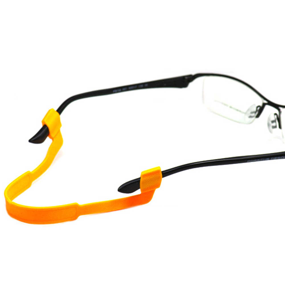 1PC ガラススリップスリーブ実用的なシリコン眼鏡ストラップガラススリップスリーブ読書サングラススポーツ臍帯眼鏡ホルダー弾性