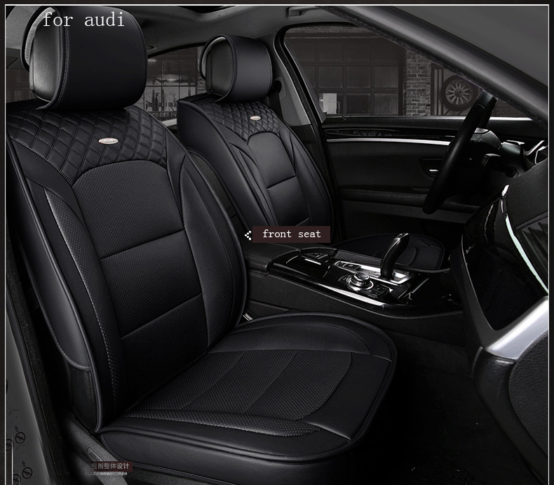waterproof pu leather car seat cover for audi a4 b6 b7 b8 a3 audi a6 c5 c6 q5 a5 q7 front rear full universal car ouzhi brand black pu leather car seat cover front and back set for audi a1 a3 a4 a6 a5 a8 q1 q3 q5 qq7 car cushion covers