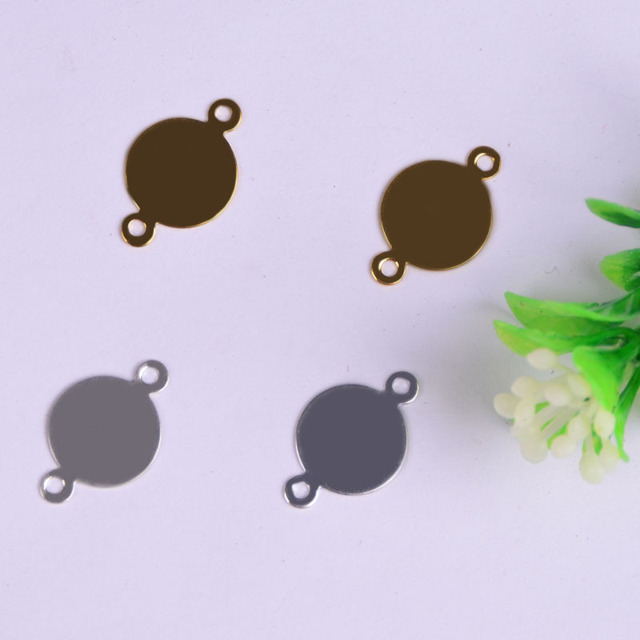 Yage 16*0.4mm 50Pcs Copper Round Connector,Fashion 5 Colors DIY jewelry findings for jewelry making