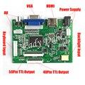 Высокая Яркость HDMI VGA 2AV 50 Pins 40 Пен Параллельный RGB TTL PC Плата Контроллера для Raspberry PI 3 IPS TFT ЖК-Дисплей Панели