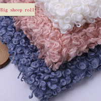 Factory direct imitation wool curly velvet lamb roll lamb roll velvet fashion women's toys home textile fabric