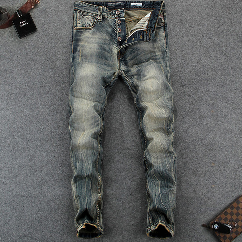 High Quality Retro Design Men Jeans Slim Fit Denim Vintage Stripe Jeans European Style Youth Stretch Skinny Jeans Mens Pants european youth policy regarding active youth participation
