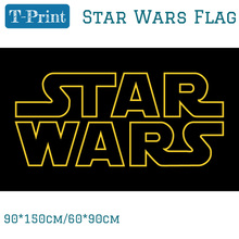 Free shipping 90*150cm 60*90cm 3x5ft Star Wars Flag Galactic Empire Metal Hole Polyester Quality