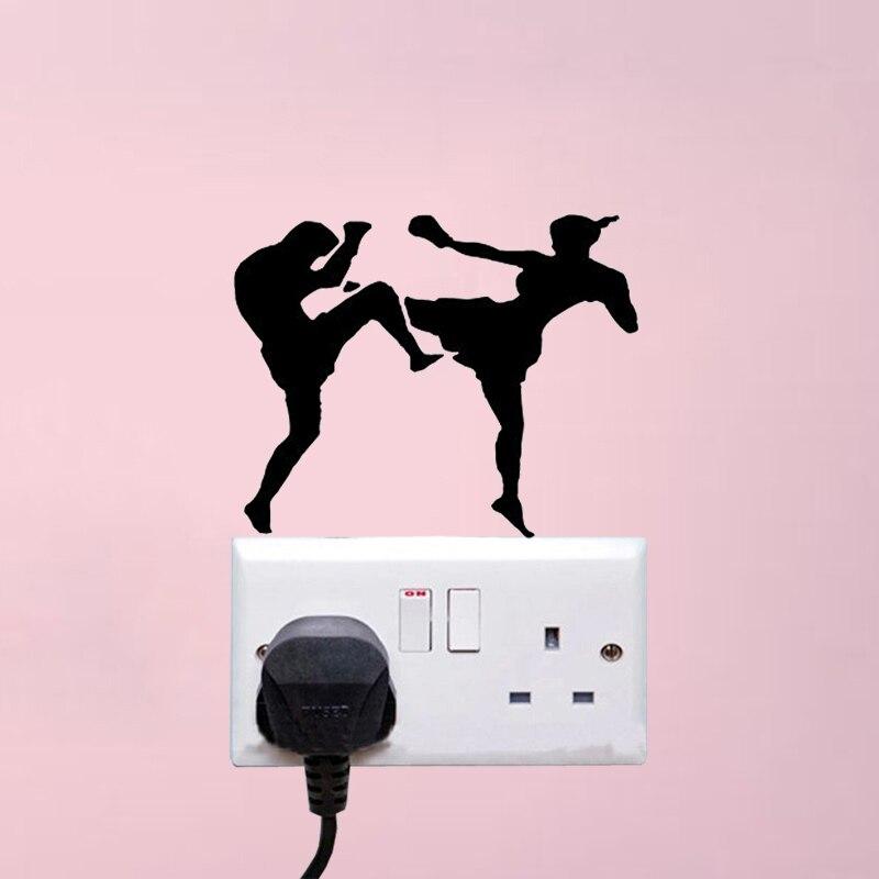 Kickboxing Combat MMA Fashion Sport Decor Wall Decals Switch Stickers 5WS1266