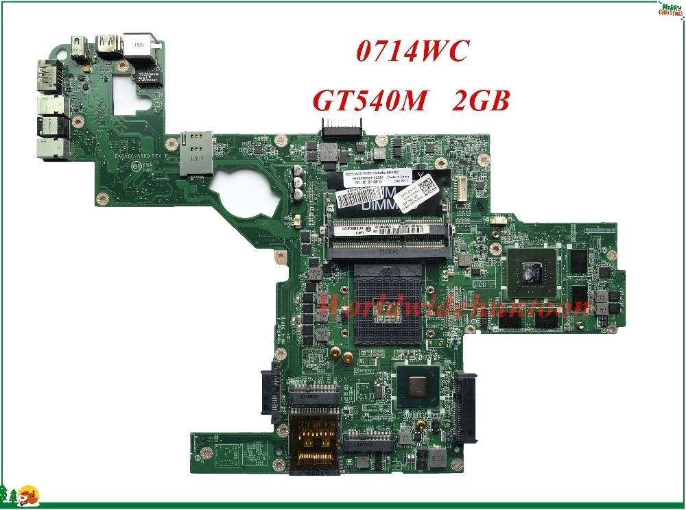 Высококачественная материнская плата MB 714WC 0714WC для ноутбука Dell XPS L502X DAGM6CMB8D0 HM67 GT540M 2 ГБ DDR3 100% протестирована