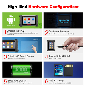 Image 2 - Autel MP808TS Diagnostic Tool Prime of DS808 Better than AP200 MK808 MK808TS Combine of MS906BT TS601 Wifi Bluetooth Scanner OBD