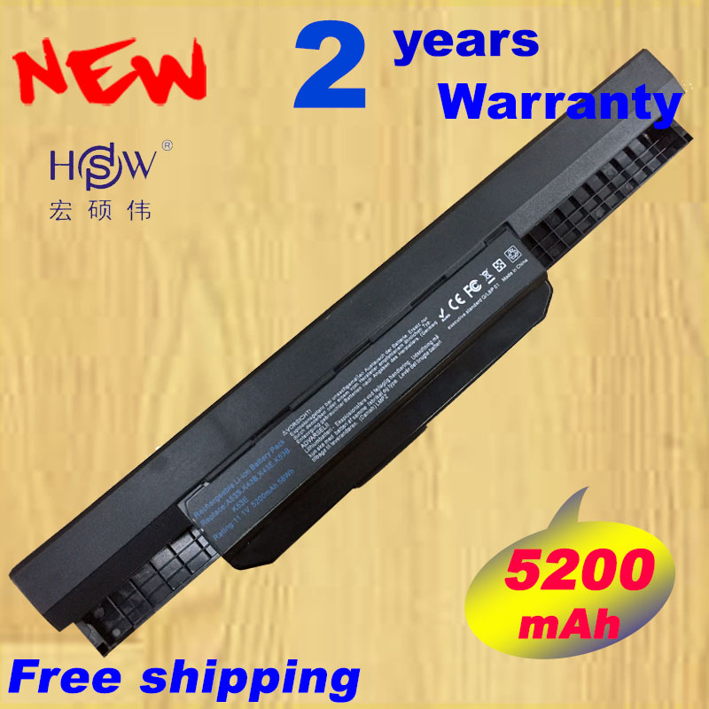 HSW 6cell battery A32-K53 for Asus A43E A53S K43E K43U K43S X54 X54H K43SJ X54C X84 K53S K53 K53SV K53T K53E K53SD X44H bateria ck 5pcs golden pin 2 5 mm socket plug connector dc power jack for asus k53 k53e k53s k53sd k53sv sales dc 042b