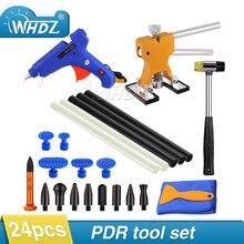 цена на WHDZ 24pcs Car Body Paintless Dent Repair Removal Tools Kits Lifter Puller Tabs PDR Glue Tabs Glue Gun Hot Melt Glue Sticks