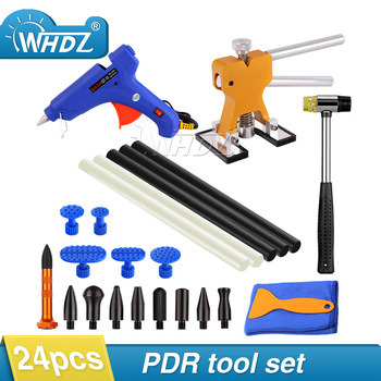 цена на WHDZ 24pcs Car Body Paintless Dent Repair Removal Tools Kits Lifter Puller Tabs PDR Glue Tabs Glue Gun Hot Melt Glue Sticks