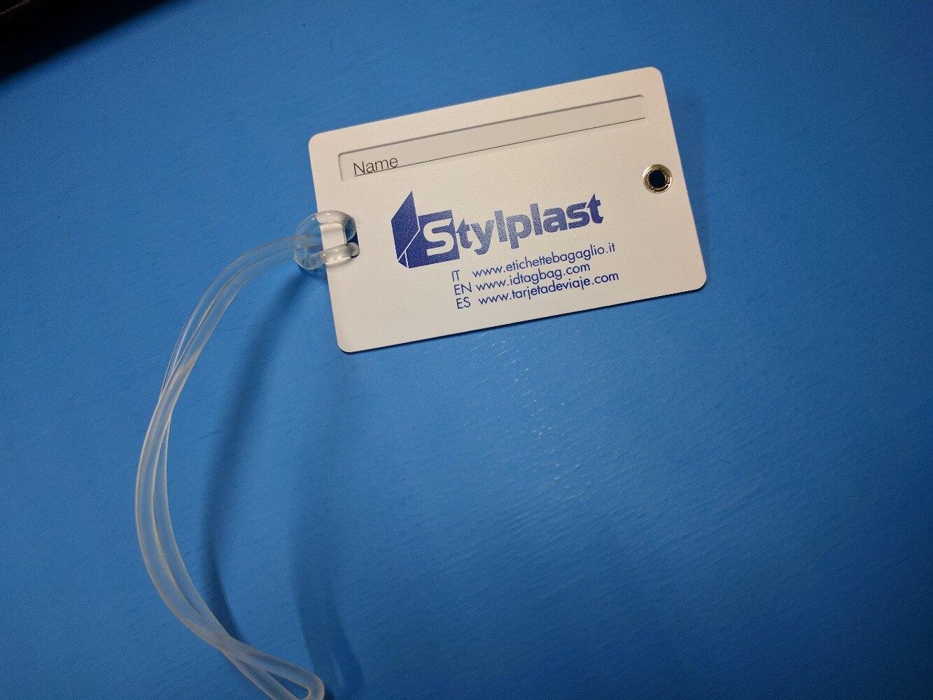 plastic luggage tag/plastic travel tag samples for sending