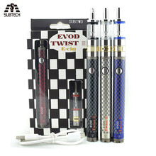 SUB TWO 10 pcs/lot  E  cigarette kit  EVOD twist III  Kit voltage variable   with m16 dual coil air flow control gift vape pen