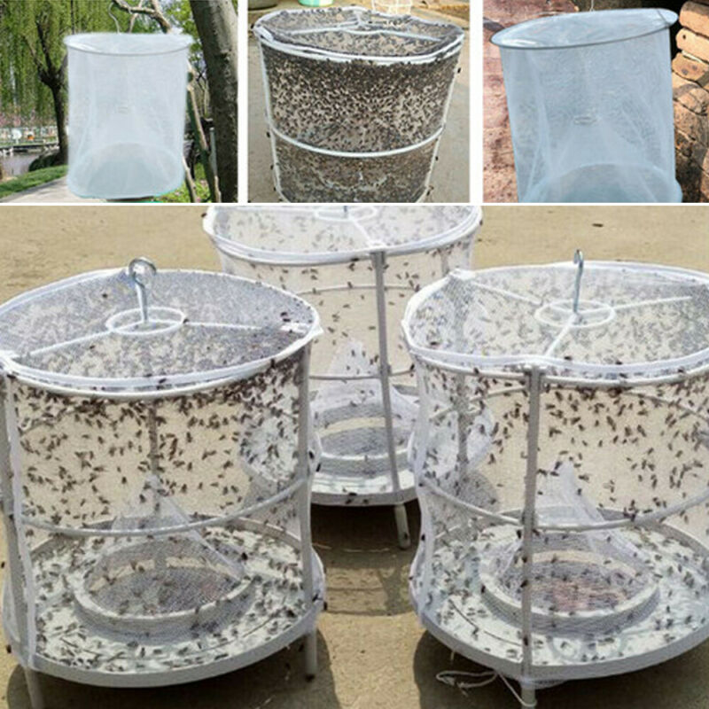 New No Chemicals Useful Outdoor Fly Catcher Net Catch Blow Flies House Trap Safe