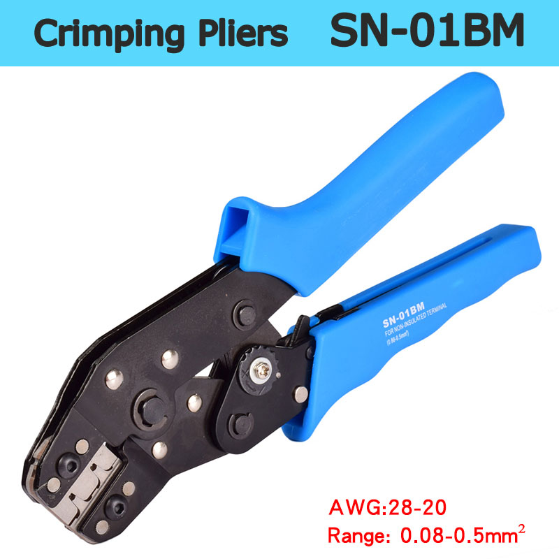 Zangen Handwerkzeuge FleißIg Sn-01bm Mini Europäischen Stil Bule Multitool Engineering Ratsche Terminal Crimpen Zange 0,08-0.5mm2 Draht Crimper Gesundheit Effektiv StäRken