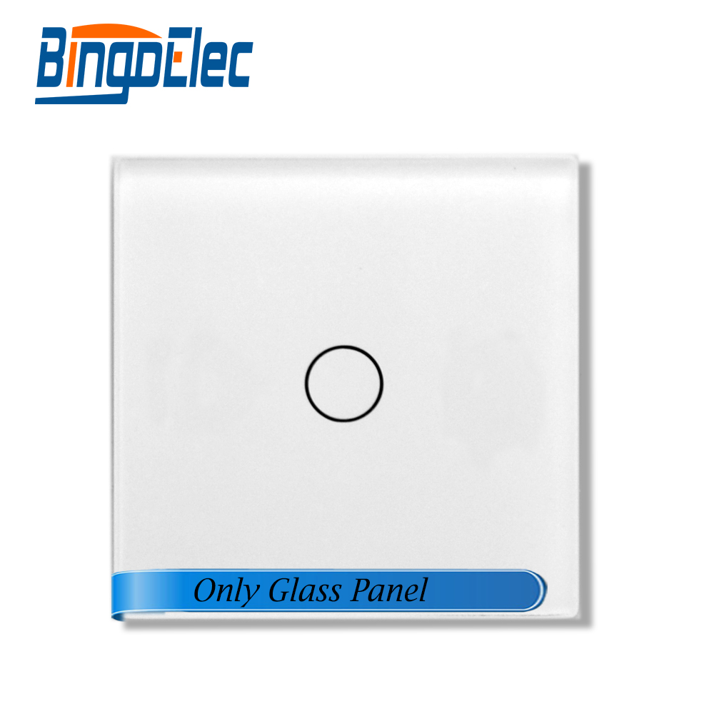 Bingeolec 47*47mm 1gang small glass ,Only glass panel.