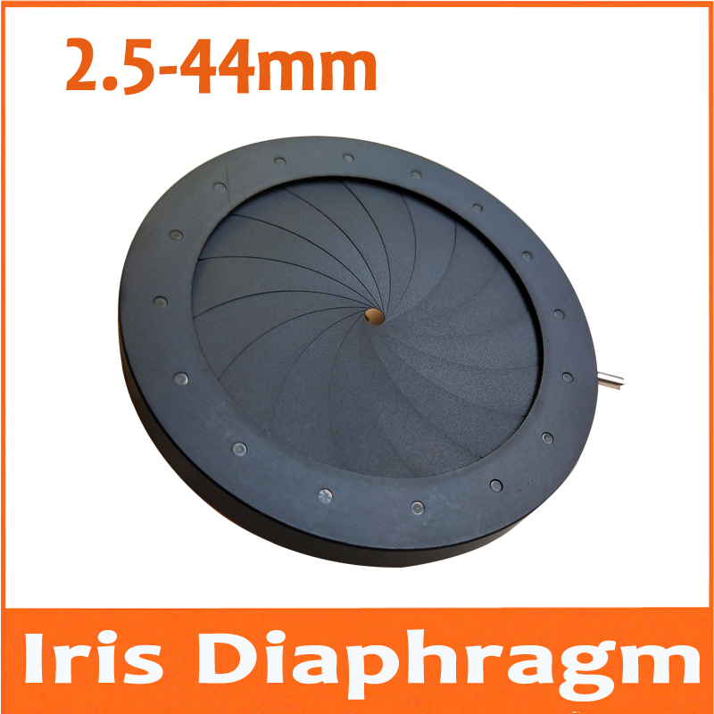 2 5 44MM Zoom Adjustable Metal Iris Aperture Diaphragm for Microscope Digital Camera Telescope Light Regulator
