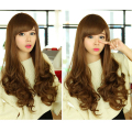 Full Lace hair 1pcs Long Wavy Cosplay Wig Fashion Synthetic Full Wigs for black woman Party Princess Hairpiece free shipping