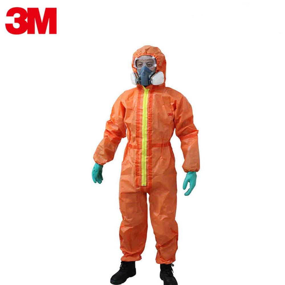 3M 4690 vêtements de protection Isolation Anti chimique liquide nucléaire rayonnement Spray brouillard acide et alcalin résistant salopette