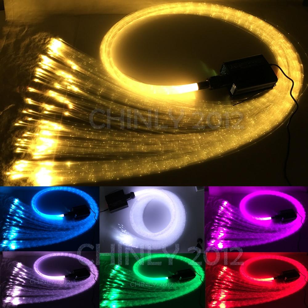 Twinkle 16W RGBW Fiber Optic Light Sparkle Flash Point Optical Fiber Cable 300pcs 1.0mm 3m RF Controller Waterfall Sensory Light