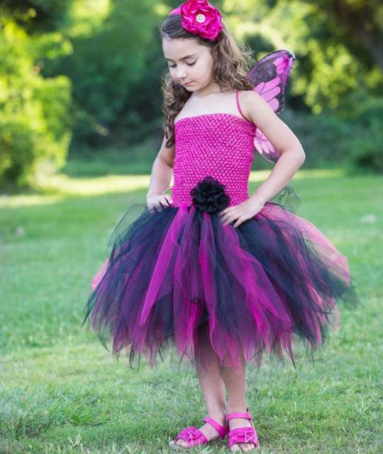 a01d2ce7d3 placeholder Cute Girls Black Cat Style Crochet Tutu Dress Kids Fluffy  2Layers Corset Tulle Ballet Tutus with