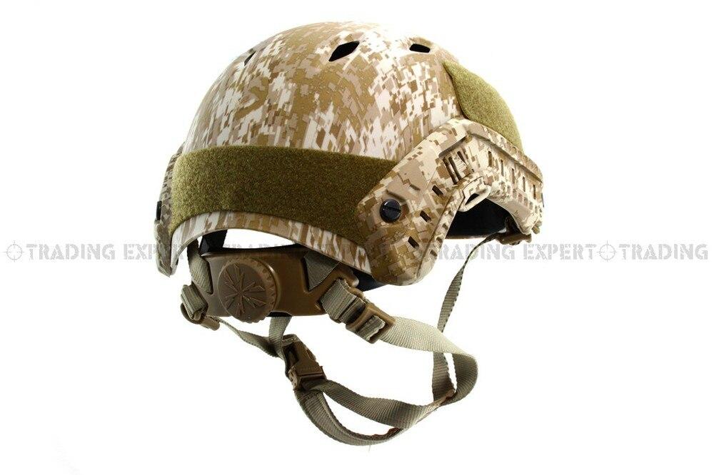 Emerson мотоциклетный шлем страйкбол быстрый стиль PJ шлем(A-TACS FG TAN MARPAT Пустыня на серый черный - Цвет: MARPAT DESERT