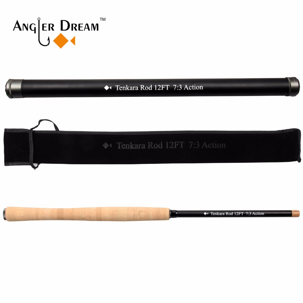 Angler Dream 12/13FT Tenkara Fly Rod 7:3 Fast Action 30T Carbon Fiber/ Graphite IM8 Telescoping Fly Fishing Rods & Rod Tube inter step sh 50 lite is hd sh50tablt