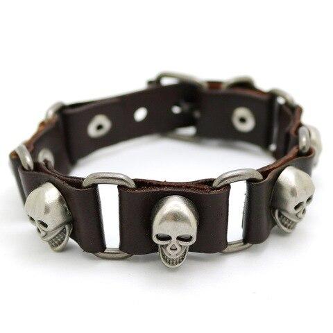 Купить мужские и женские модные аксессуары панк браслеты с черепами