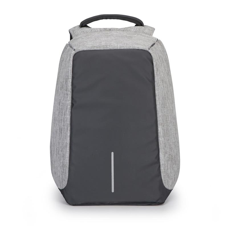 15 colių nešiojamų vyriškų kuprinių verslo kelionių unisex kuprinės apsaugos nuo vagysčių su USB įkrovikliu vandeniui atsparios didelės talpos rankinės