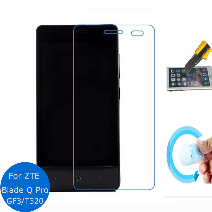 never broken Clear Soft Glass Nano Explosion proof Screen Protector Protective Lcd Film Guard For ZTE Blade Q Pro T320 GF3