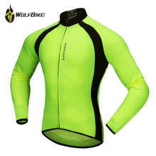 WOSAWE Thin Long Sleeve Cycling Jersey Men Outdoor MTB Sports Jackets Road Bike Cycle Running High Visibility Riding Sportswear