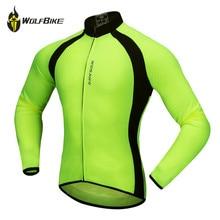 цена на WOSAWE Thin Long Sleeve Cycling Jersey Men Outdoor MTB Sports Jackets Road Bike Cycle Running High Visibility Riding Sportswear