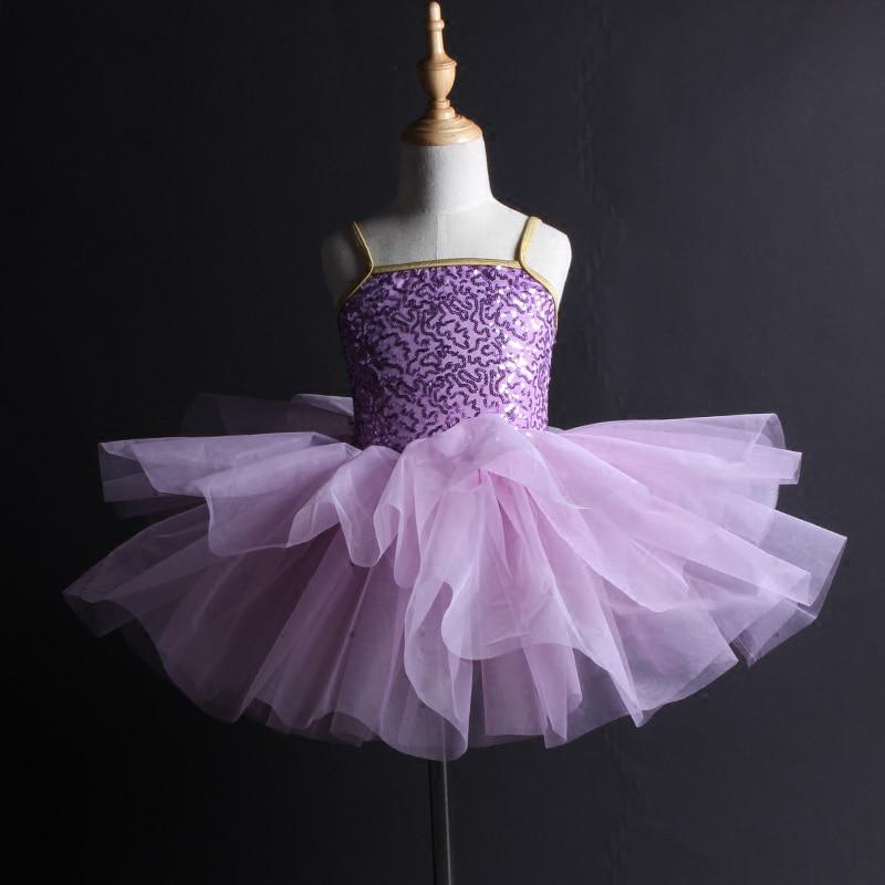Femmes filles enfants Ballet Tutu professionnel enfant adulte paillettes Ballet enfants ballerine robes princesse robe dentelle jupe DN1061