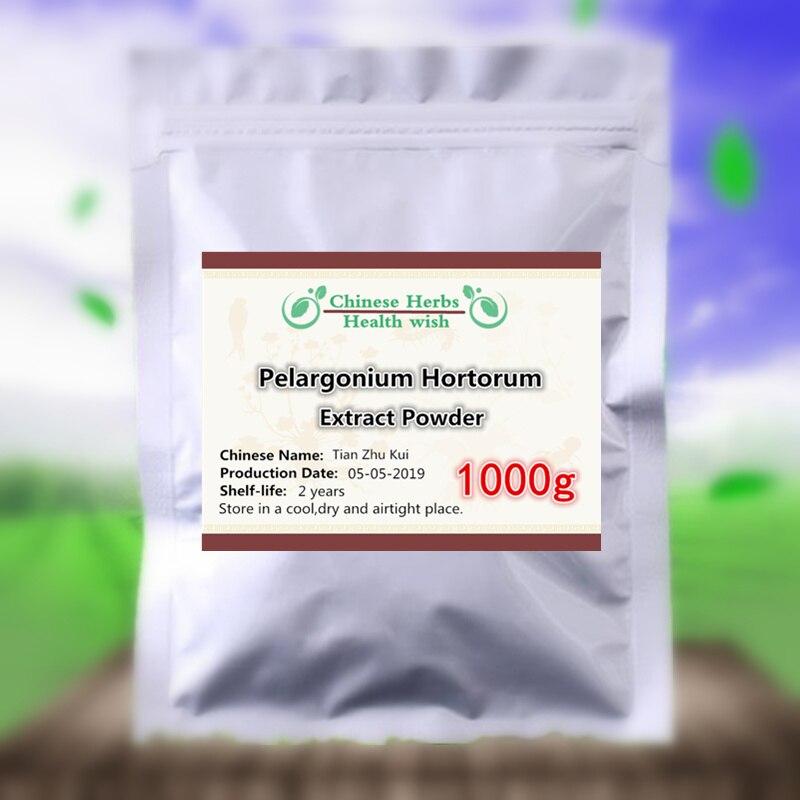 Améliorer le PMS et le problème de ménopause, 1000g d'extrait naturel de géranium végétal en poudre (DMAA), pélargonium, diurèse, Tian Zhu Kui